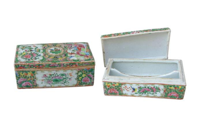 canton porcelain boxes