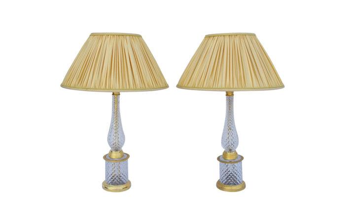 lampes cristal bronze doré
