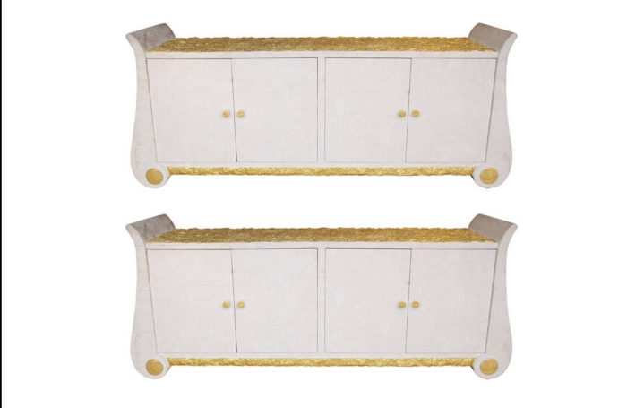 soft white stone gilt sideboards