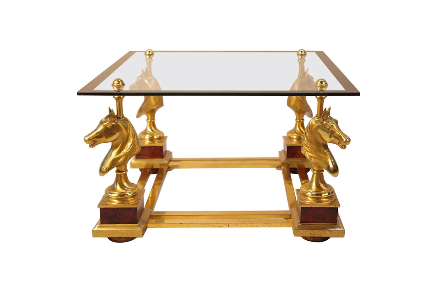 Maison Charles Small Horse Coffee Table In Gilt Bronze 1970 S