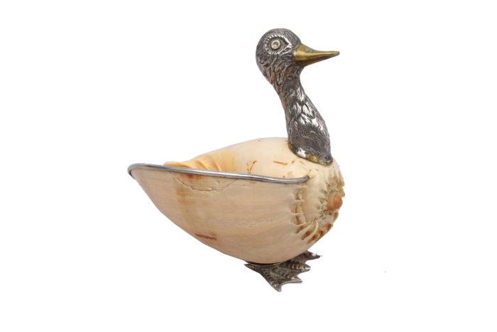 vide poche canard coquillage laiton