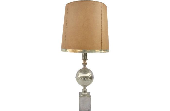 silvered brass lamp
