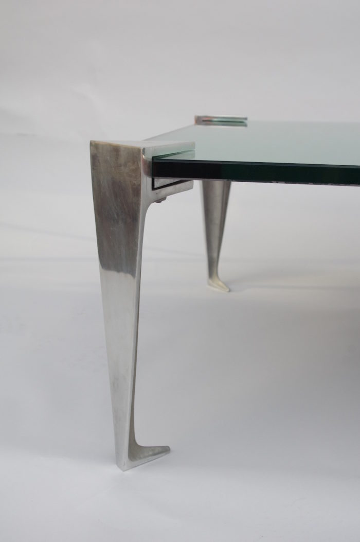 table basse aluminium