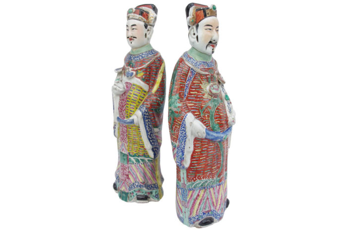 ls2777 dignitaires chinois porcelaine
