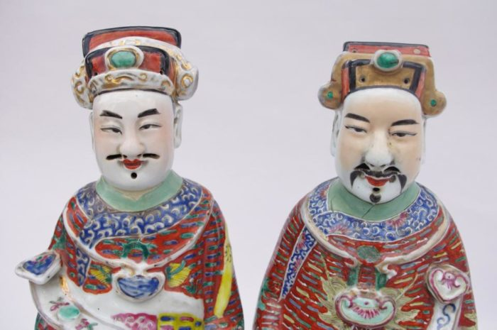 dignitaires chinois porcelaine