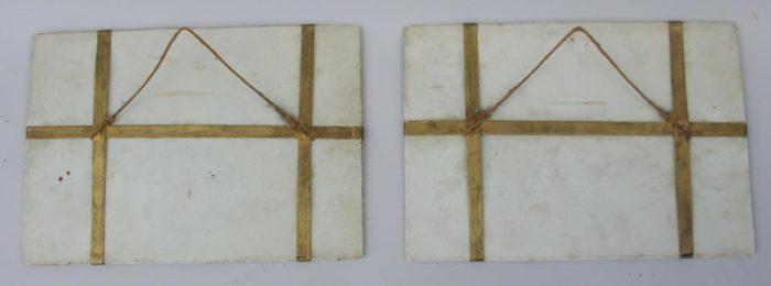 plaques de porcelaine