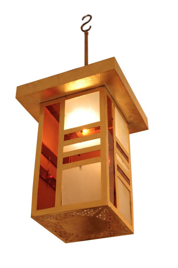 arabic style pendant light brass