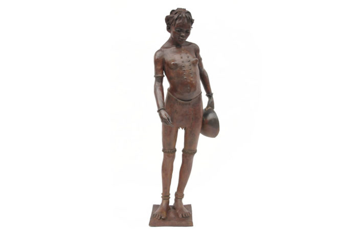 gourd bronze sculpture woman darbaud