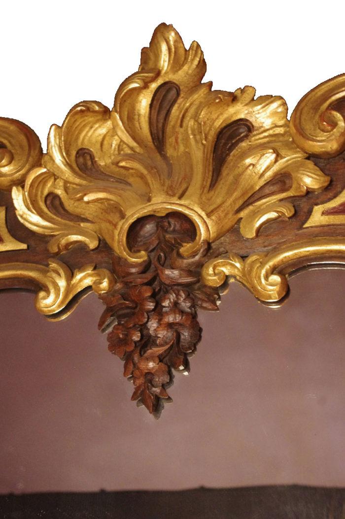 miroir bois rococo viennois