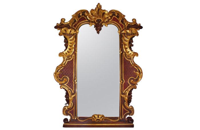 viennese rococo wood mirror