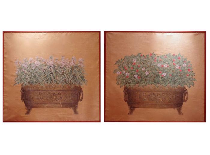 jardiniere toiles bronze
