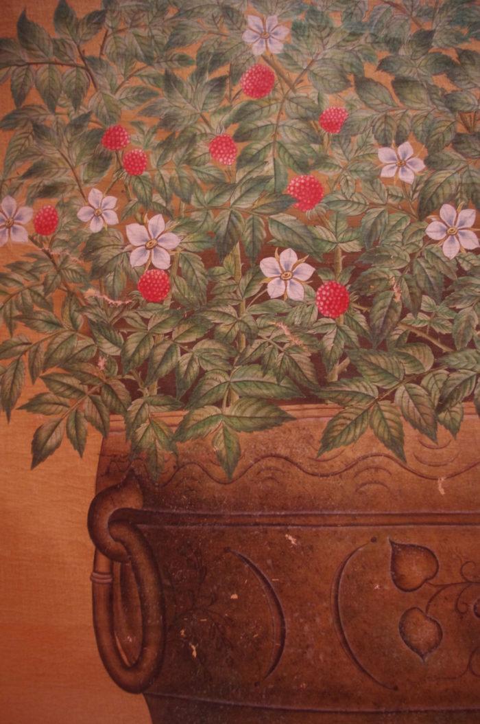 panneau jardiniere framboise