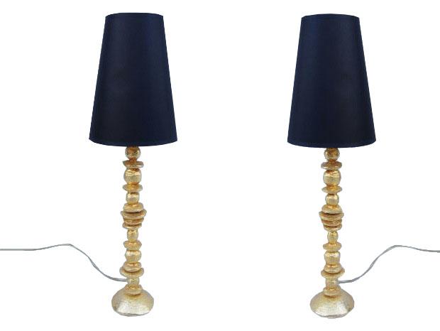 gilt bronze stones lamps