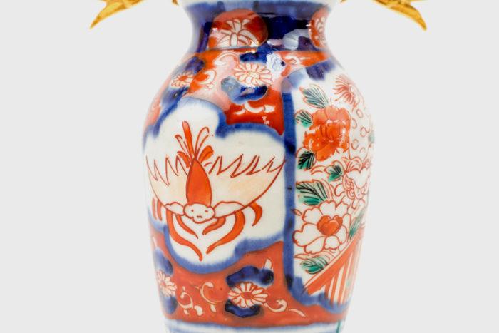 imari gilt bronze porcelain candelabras