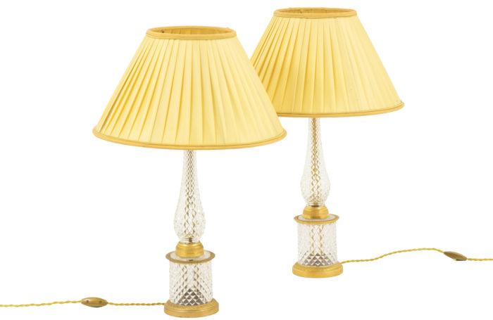 paire lampes cristal taillé pcpl
