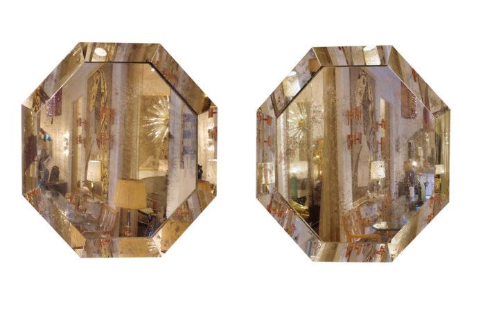 miroirs octogonaux oxydés