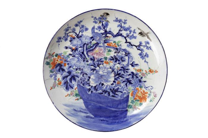 plat porcelaine japonaise fleurs