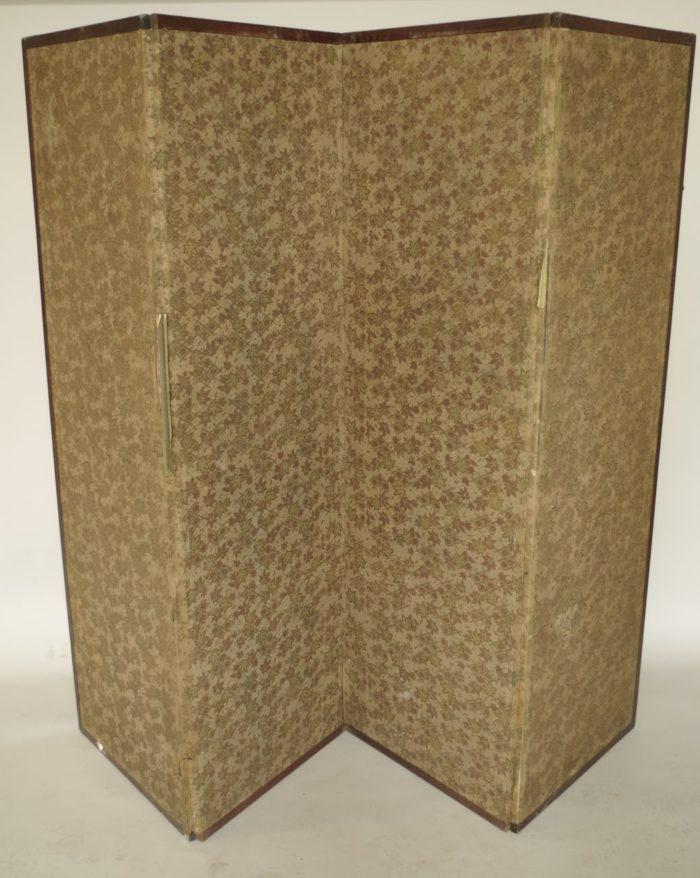 paravent japonisant papier gaufré tissu