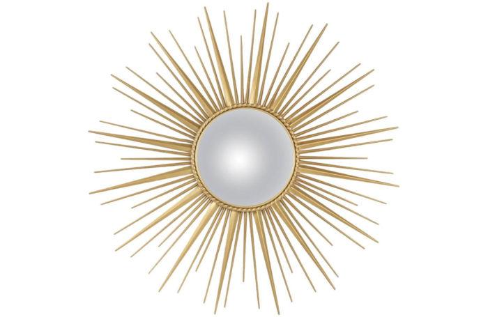 miroir soleil convexe laiton chaty vallauris