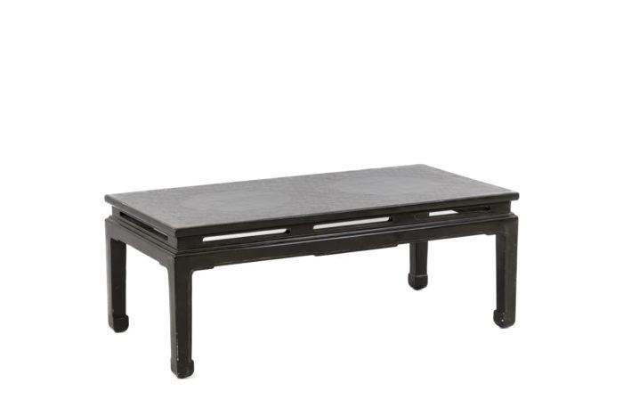 table basse chinoisante laquée verte