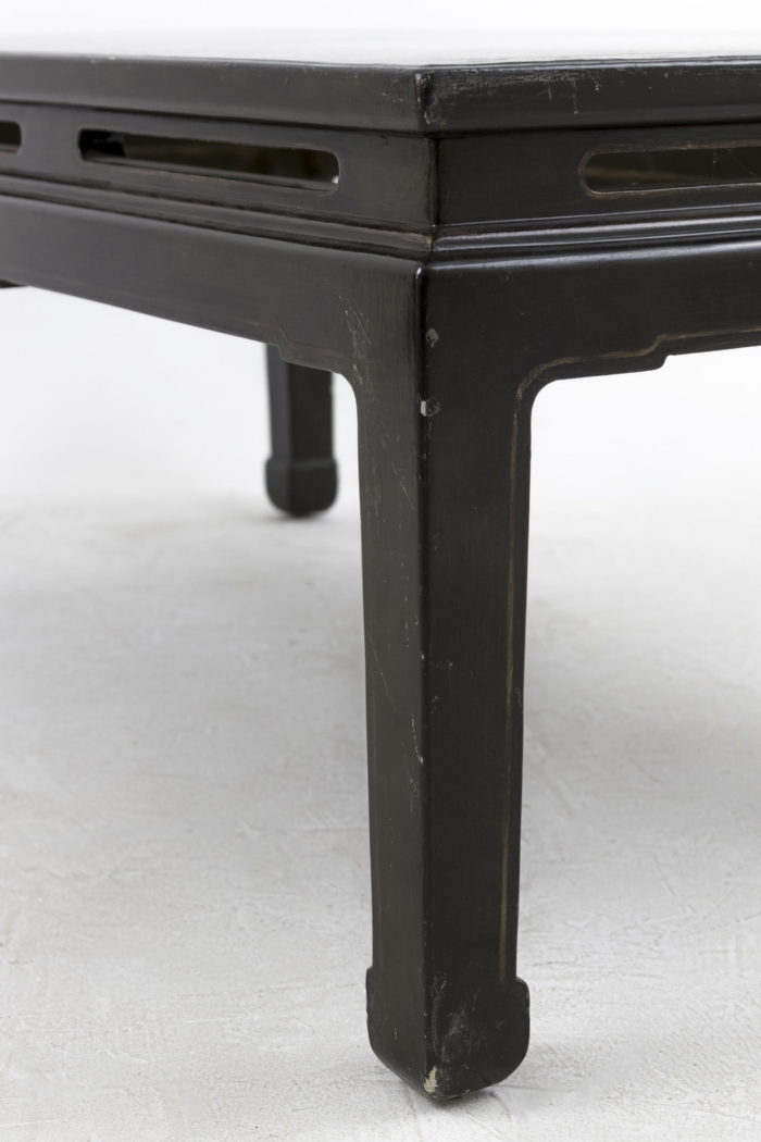 table basse chinoisante pied