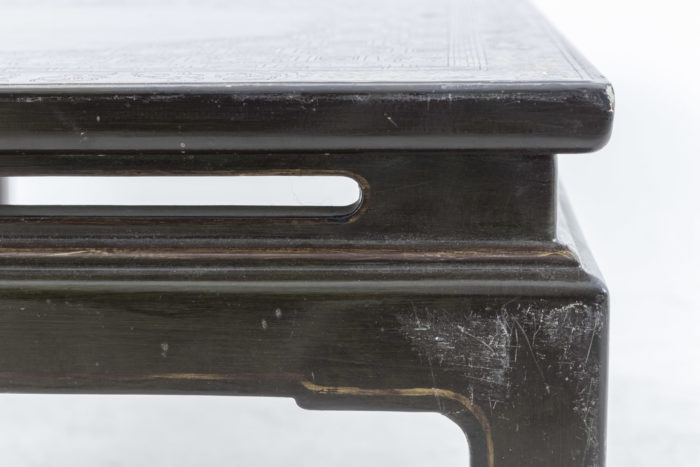 table basse chinoisante usures