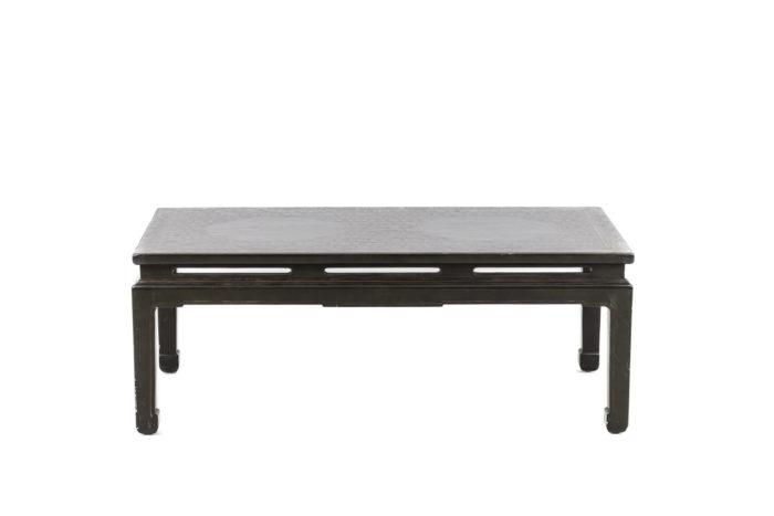 table basse laqué verte chinoisante