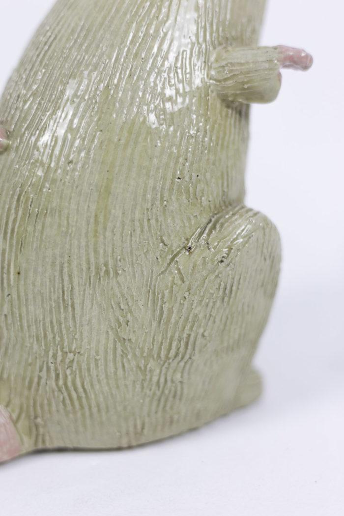 valérie courtet sculpture rat crème