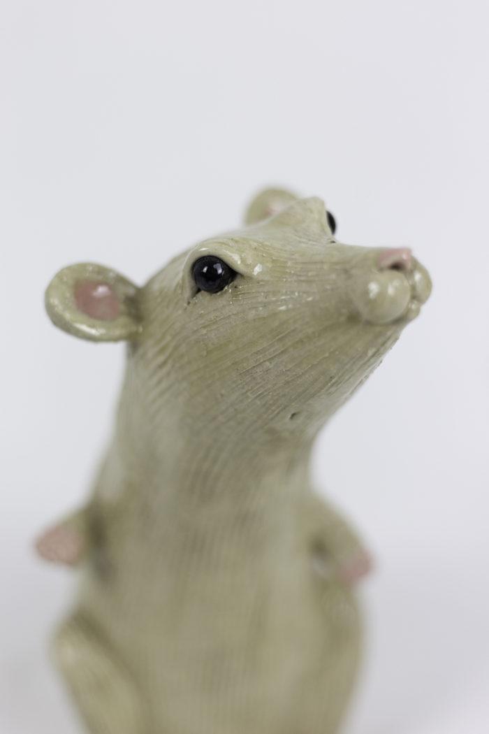 valérie courtet sculpture rat tête 2