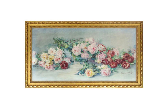 bunch roses watercolor charliat