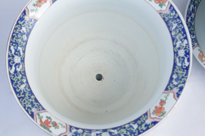 cache pot porcelaine famille verte interieur
