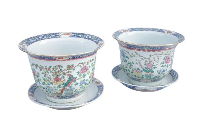 cache pot porcelaine famille verte pcple