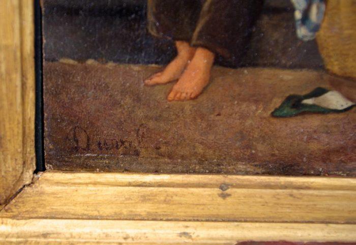 duval panneau peint signature