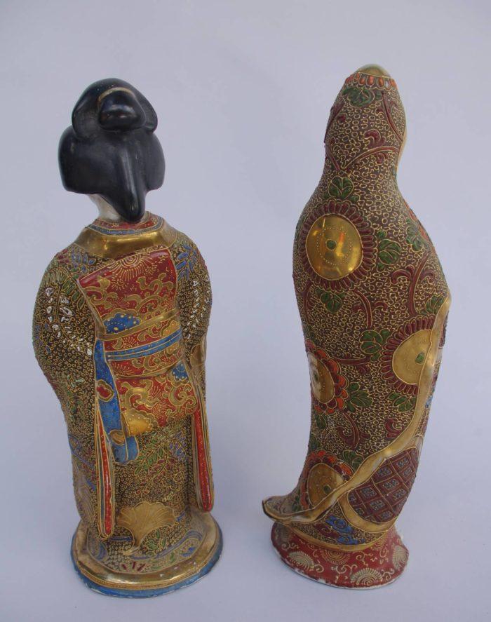 geisha dos kimono faience satsuma