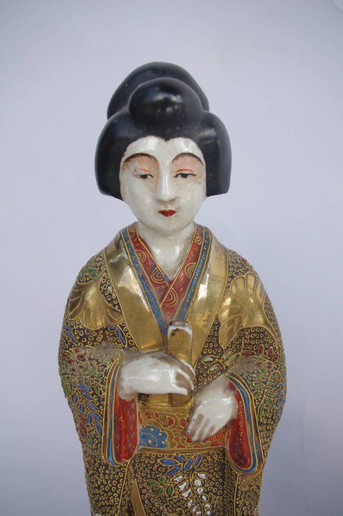geisha satsuma porcelaine 1