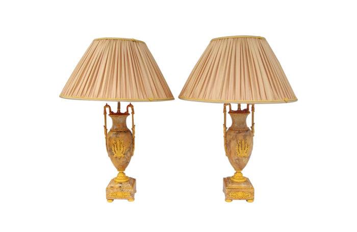 lampe empire marbre jaune
