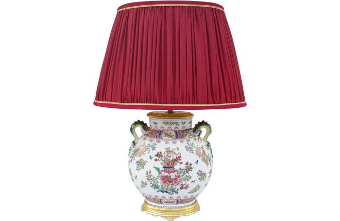 lamp jarre wucai chinese porcelain