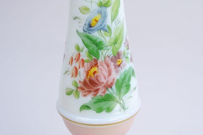 lampe porcelaine paris fleurs detail