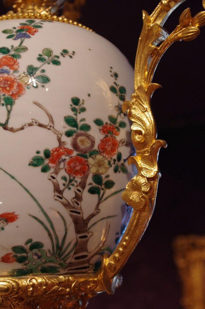 chandelier porcelain canton gilt bronze