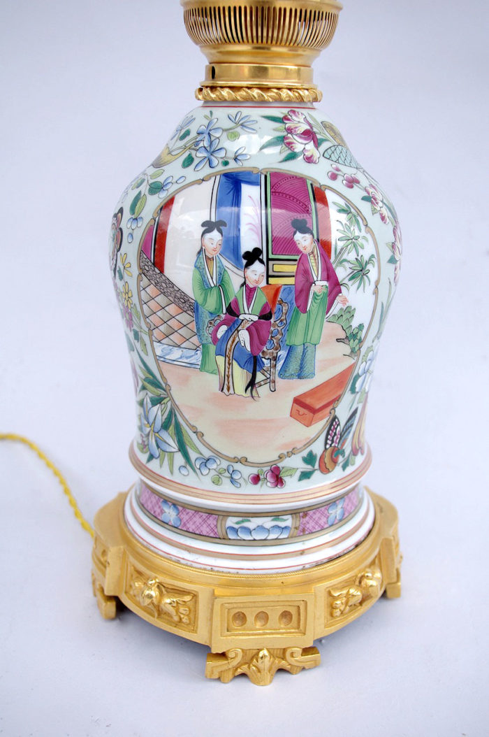 pink family porcelain lamp palace