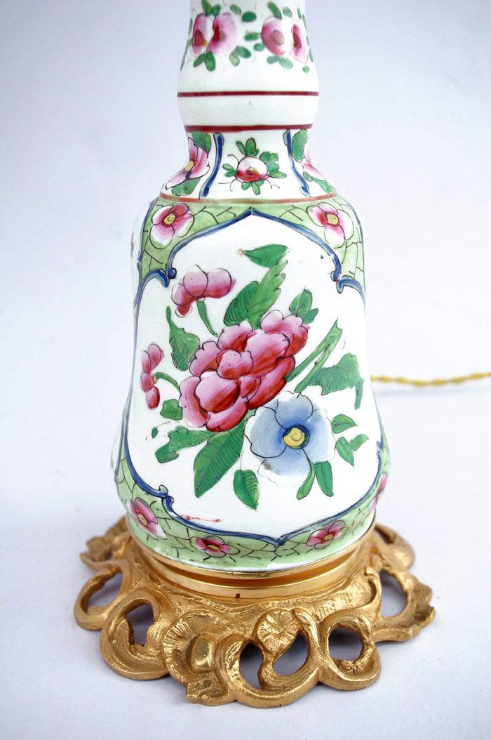 lampe porcelaine bayeux canton