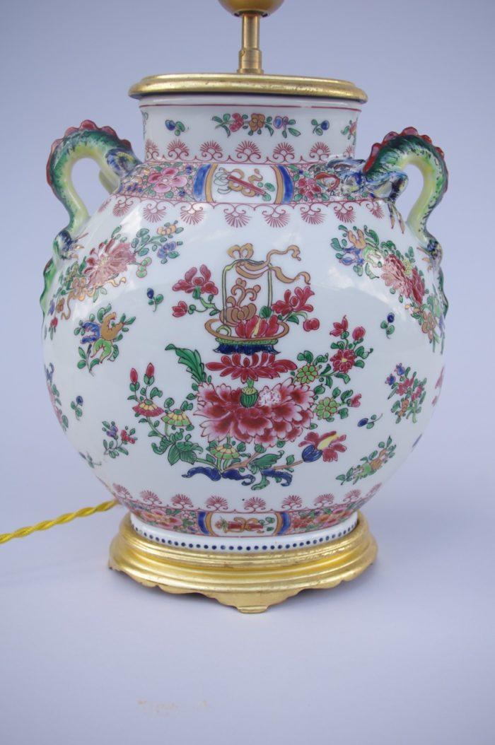 lampe porcelaine wucai panse