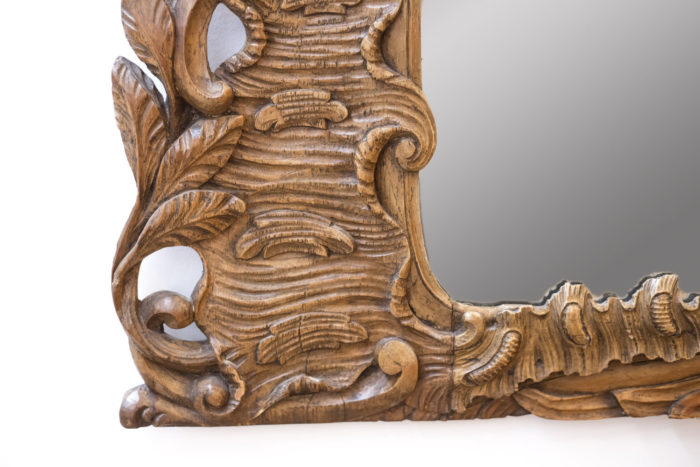 Miroir bois sculpté rococo angle