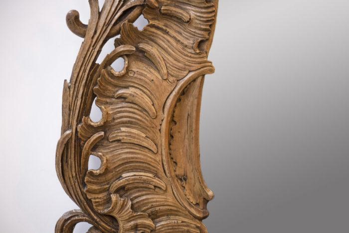 Miroir bois sculpté rococo crete de coq