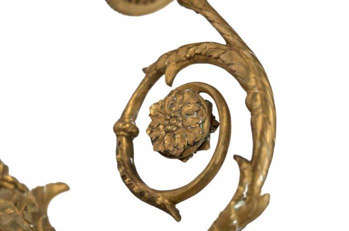 maison bagues appliques bronze doré rosace