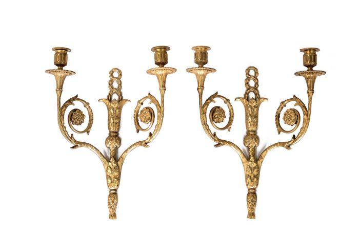 maison bagues appliques bronze doré style louis xvi