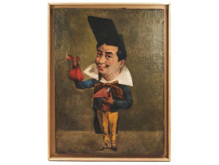 gautier Caricaturetableau huile surtoile