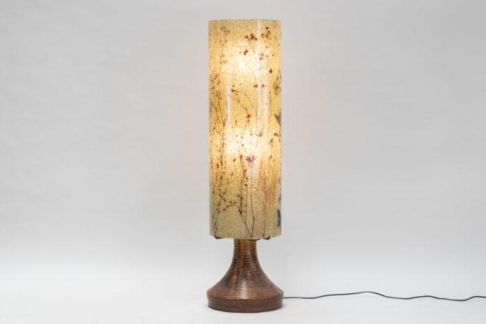 lampe accolay ceramique résine colonne 3