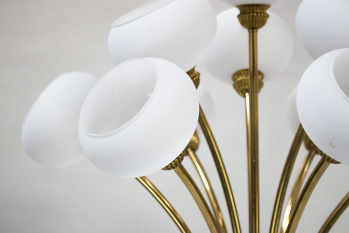 lampe laiton doré tulipes verre
