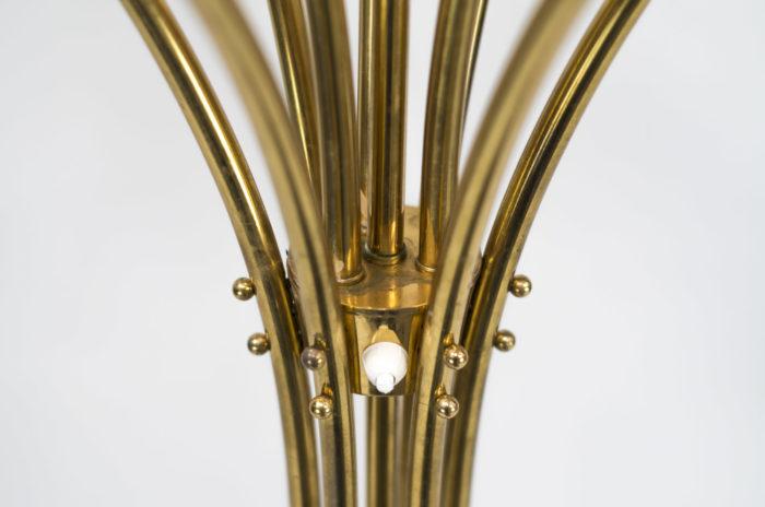 lampe pied laiton doré
